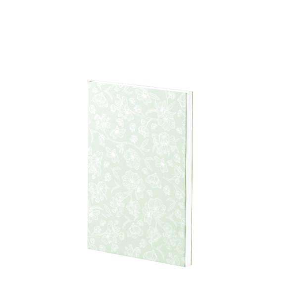 Notizbuch A5+, Feine Blüten, Grün