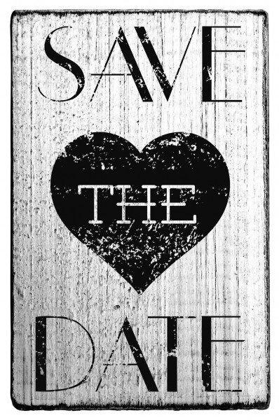 """Stempel """"Save the date"""""""