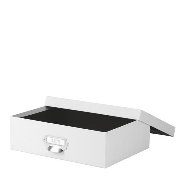 Aufbewahrungsbox mit Griff, Weiß