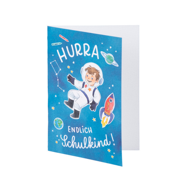 Glückwunschkarte, Hurra, Astronaut