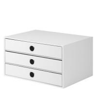 3er Schubladenbox für A4, Weiß