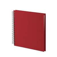 Fotoalbum L mit Spiralbindung, weiße Seiten, Rot
