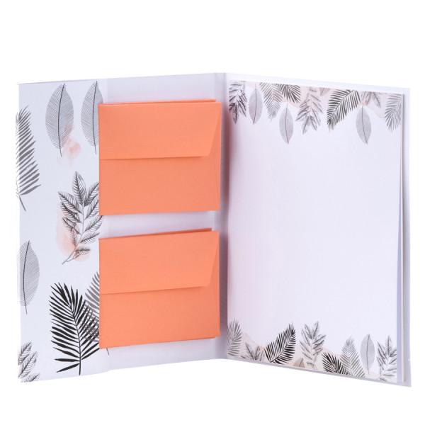 Briefpapiermappe, Tropenblätter