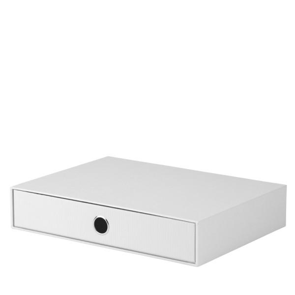 1er Schubladenbox für A4, Weiß
