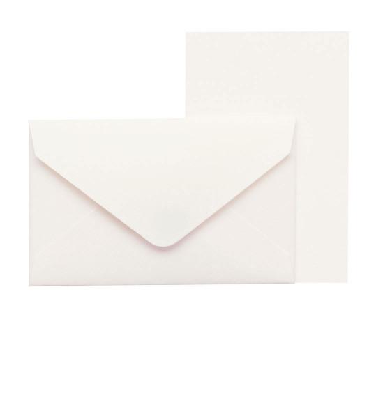 Mini-Karten mit Briefumschlag, Weiß