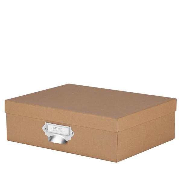 Aufbewahrungsbox mit Griff für A4, Kraft