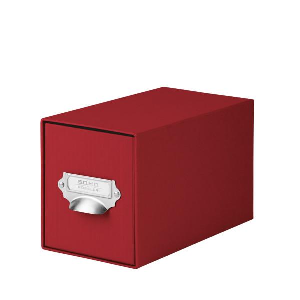 1er Schubladenbox für CDs, Rot