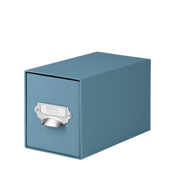1er Schubladenbox für CDs, Denim-Blau