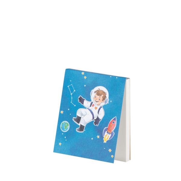 Notizblöckchen, Astronaut