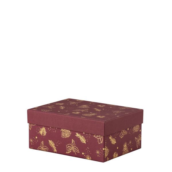 Box, M, Weihnachten, Gold-Rot