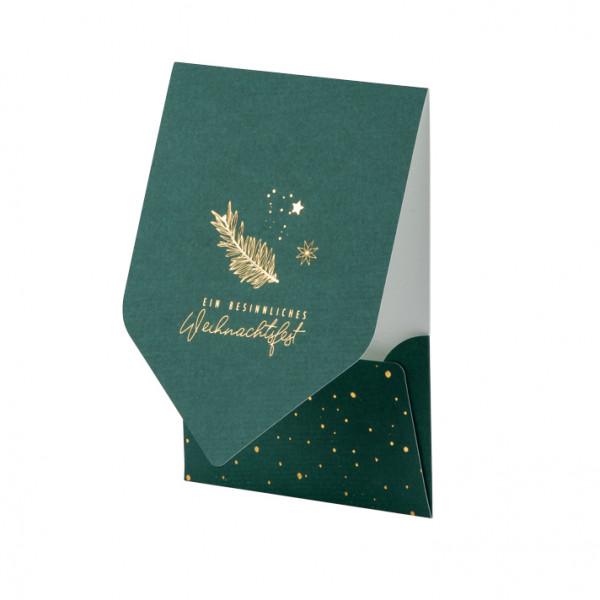 Weihnachtskarte, Zweig, Grün
