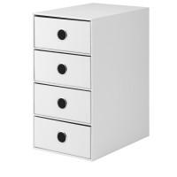 4er Schubladenbox für A5, Weiß