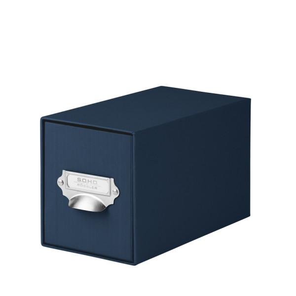 1er Schubladenbox für CDs, Navy/Blau