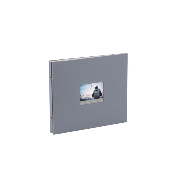 Fotoalbum mit Buchschrauben, Grau