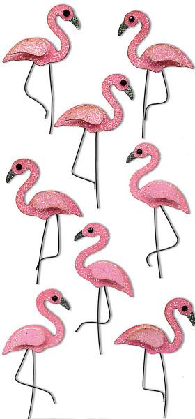 Sticker, Flamingo