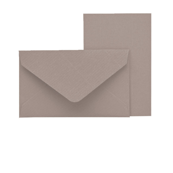 Mini-Karten mit Briefumschlag, Taupe
