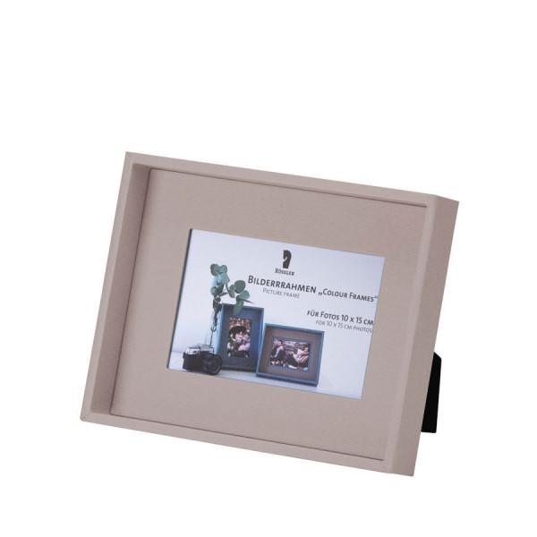 Bilderrahmen für Fotos 10x15 cm, Taupe