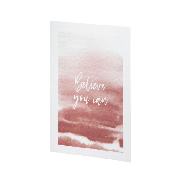 Kunstdruck A4, Believe you can
