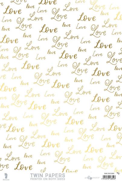 3er Pack Kreativpapiere zweiseitig, Love