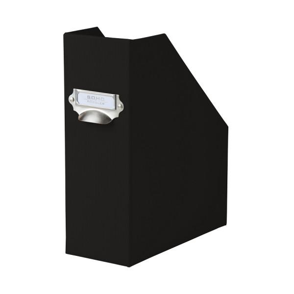Stehsammler mit Griff für A4, Schwarz