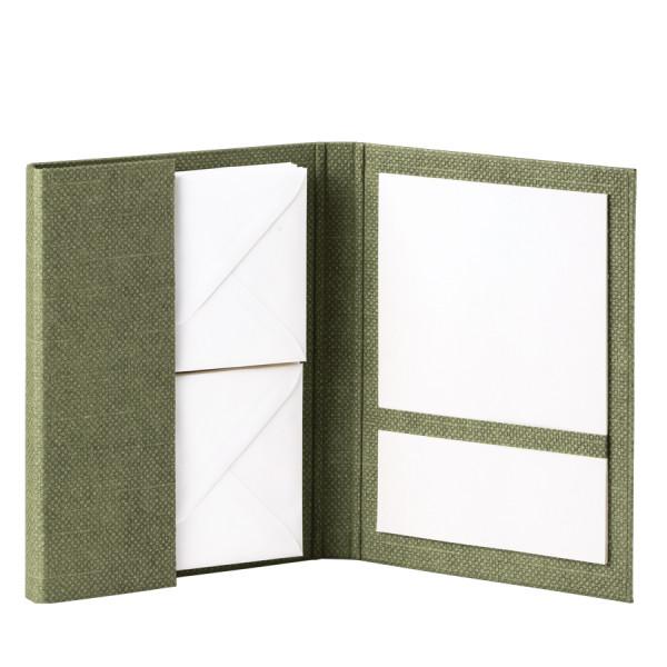 Briefpapiermappe A5, Salbei-Grün