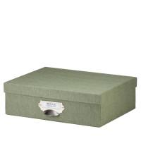 Aufbewahrungskartonage mit Griff für A4, Salbei/Grün