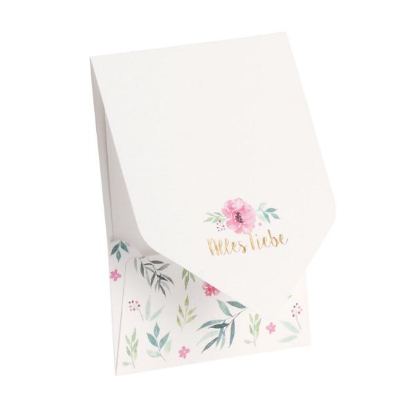 Pocketfold-Karte, Alles Liebe, Blume