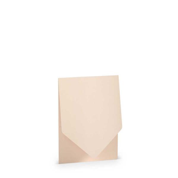 Pocketfold-Kartenset B6, Metallic Powder Rosa