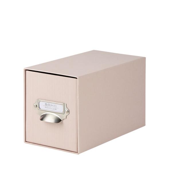 1er Schubladenbox für CDs, Powder/Rosa