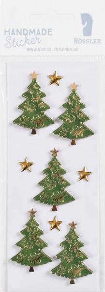 Sticker, Weihnachten, Baum