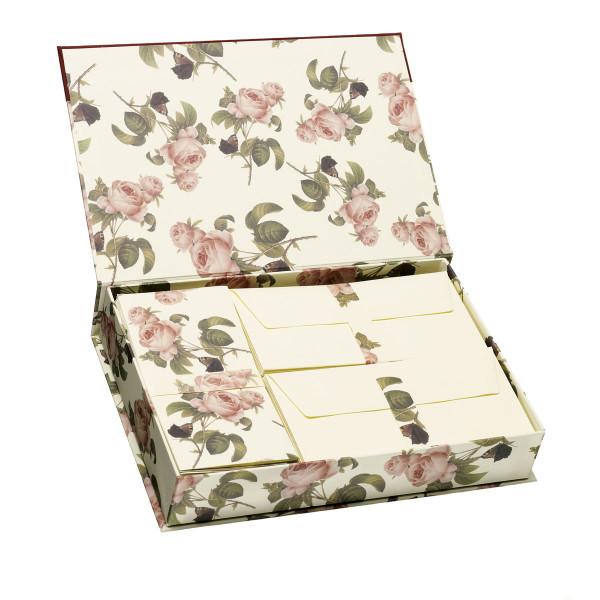 Briefpapierkassette, Rosen
