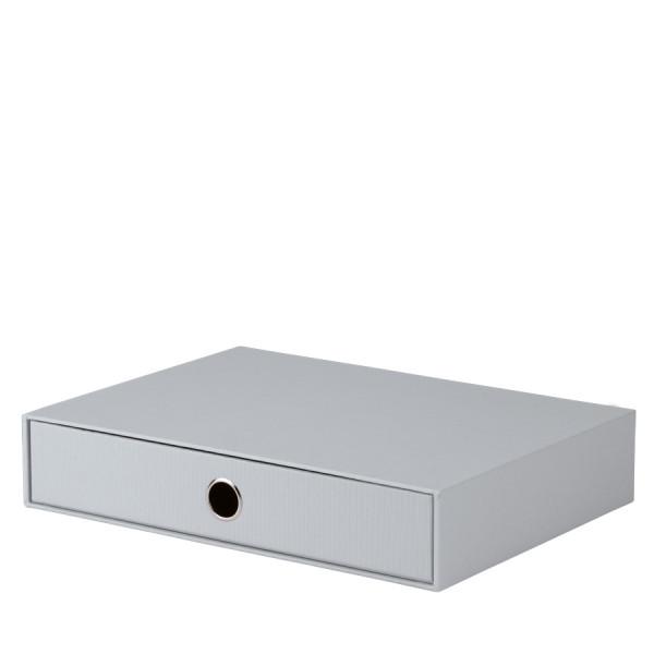 1er Schubladenbox für A4, Stone/Grau