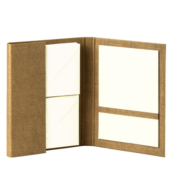 Briefpapiermappe A5, Haselnuss/Braun