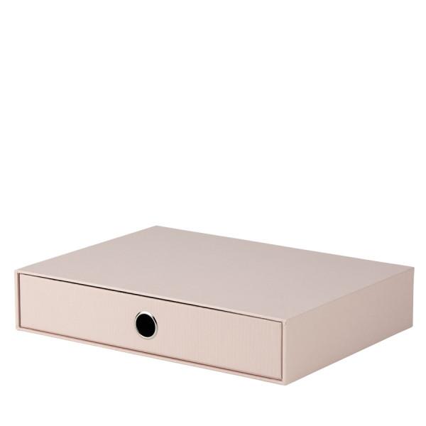 Schubladenbox für A4, Powder/Rosa