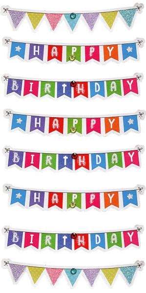 Sticker, Wimpelkette Geburtstag
