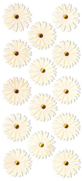 Sticker, Blumen, Gelb