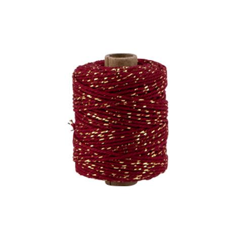 Kordel, Rot mit Gold