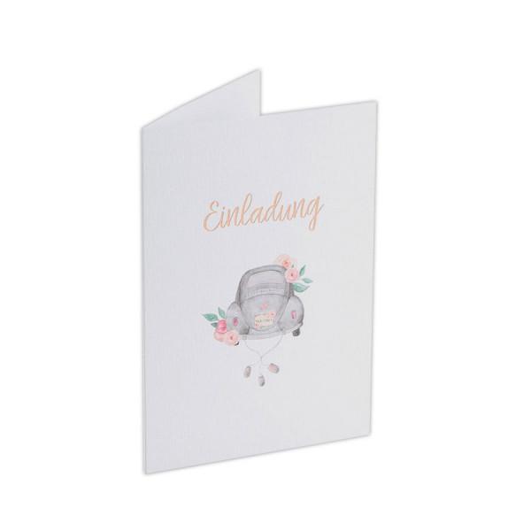 Hochzeitseinladungskarten, Oldtimer Käfer