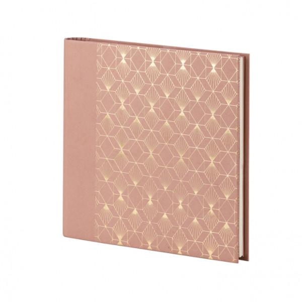 Gäste- und Fotoalbum, Art Deco, Rosa
