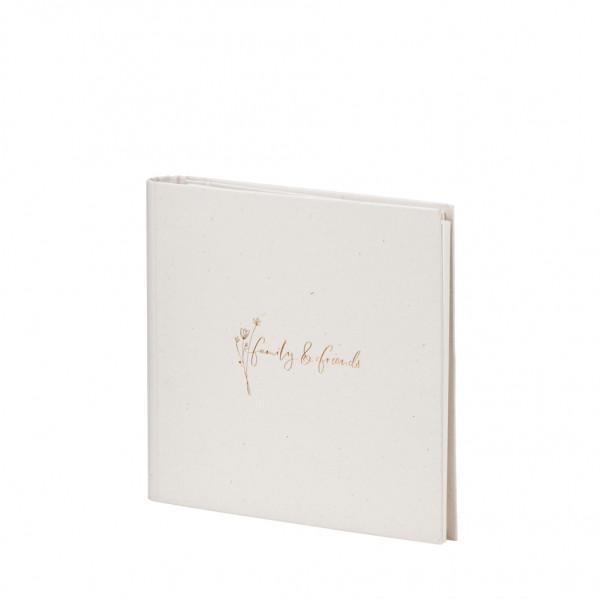 Gäste-/Fotoalbum, family & friends, Natura Vanilla