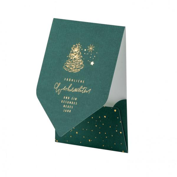 Weihnachtskarte, Tannenzapfen, Grün