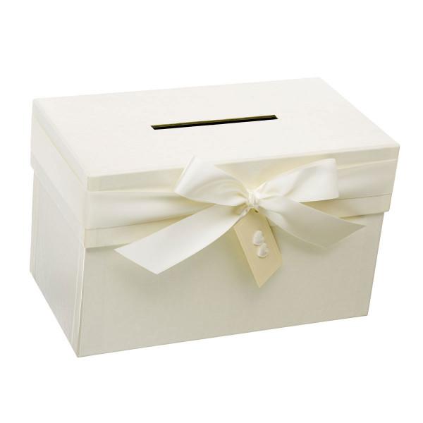 Geldbox & Briefbox mit Schleife, Perlmutt