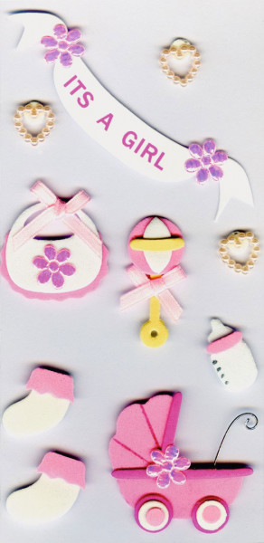 Sticker, Baby, It's a girl