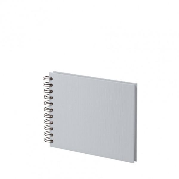 Fotoalbum S mit Spiralbindung, weiße Seiten, Stone/Grau