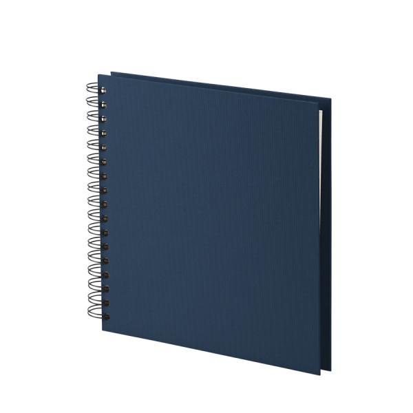 Fotoalbum L mit Spiralbindung, weiße Seiten, Navy/Blau