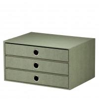 3er Schubladenbox für A4, Salbei/Grün