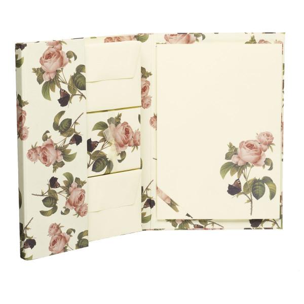 Briefpapiermappe, Rosen