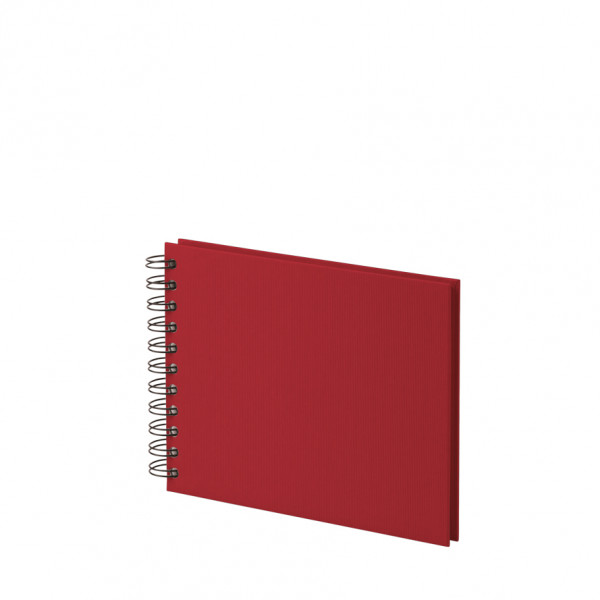 Fotoalbum S mit Spiralbindung, weiße Seiten, Rot