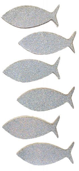 Sticker, Fische Glitzer, Silber
