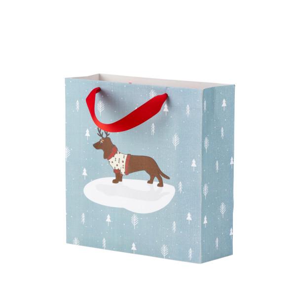 Geschenktüte Weihnachten, Weihnachtshund